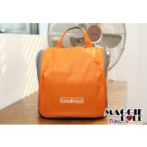 Travel Cosmetic Makeup Toiletry Organizer Hanging Wash bag - Orange